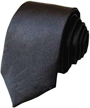 2 Pack Men's Solid Color Slim Skinny Tie