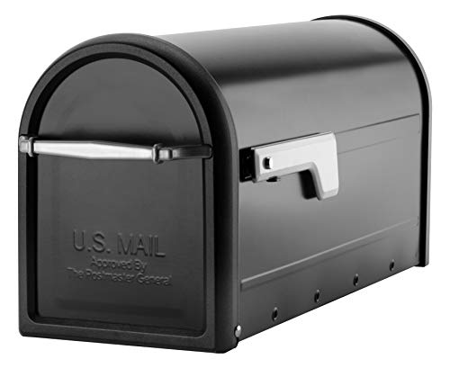 Architectural Mailboxes 8950B-10 Chadwick Postmount Mailbox, Large, Black