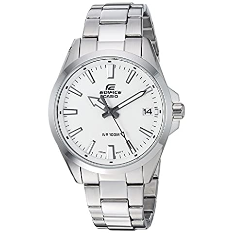 Casio Men's Edifice Quartz Watch with Stainless-Steel Strap, Silver, 19.7 (Model: EFV-100D-7AVCR) - Sale: $71.95 USD (19% off)