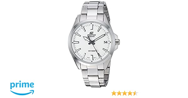 Amazon.com: Casio Mens Edifice Quartz Watch with Stainless-Steel Strap, Silver, 19.7 (Model: EFV-100D-7AVCR: Watches