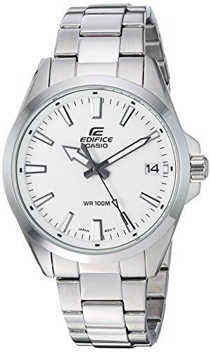 Casio Men's Edifice Quartz Watch with Stainless-Steel Strap, Silver, 19.7 (Model: EFV-100D-7AVCR)