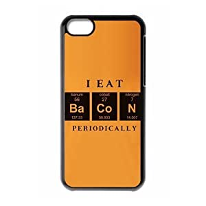 TYHde Delicious food?šº?I eat bacon periodically pattern for black plastic iphone 5c case ending