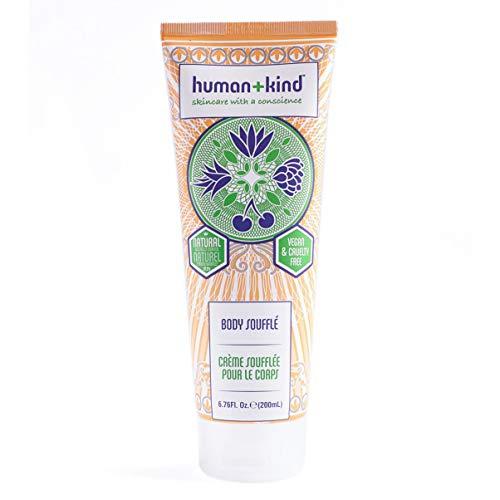 Human+Kind Body Souffle Tube, Lightly Whipped Cream Moisturizer, Heavenly, 6.76 Fl.Oz