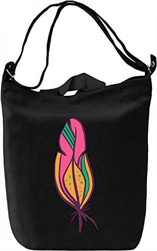 Decorative feather Borsa Giornaliera Canvas Canvas Day Bag| 100% Premium Cotton Canvas| DTG Printing|