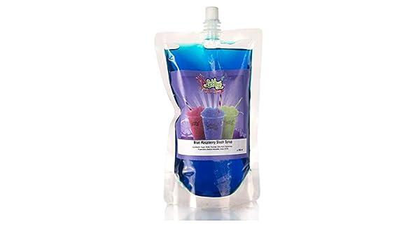 Compra 330ml Bolsa de Frambuesa Azul Sabores para granizados - Máquinas, para hacer GRANIZADOS en casa Puppy/Cachorro Estilo Decorados bebidas, Nieve Conos, ...
