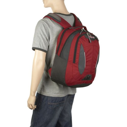 JanSport Schulrucksack Air Kirkwood Core Series Rucksack Red Curtain/Humboldt Grey