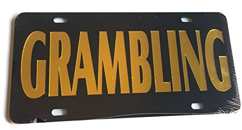 The Sports Fan Store Grambling State Tigers Black Gold Mirrored License Plate - GSU Car Tag