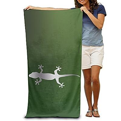 """Gecko Lizard Hawaii Hawaiia Platinum Style 31.5""""51"""" Beach Towel"""