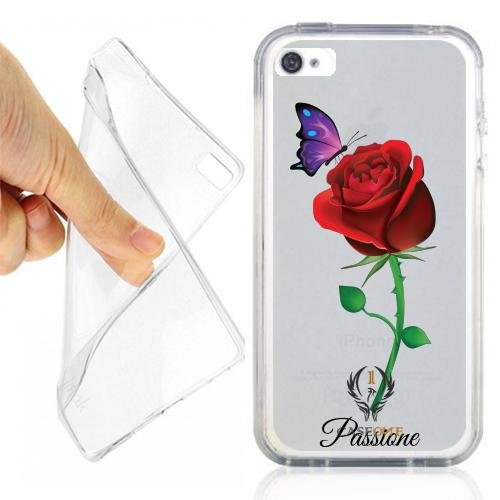 CUSTODIA COVER CASE CASEONE ROSA PASSIONE PER IPHONE 4S OPACO