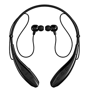 SoundPEATS Bluetooth Headphones Stereo Neckband Wireless Headset Sport Earbuds with Mic (10 Hours Play Time, Bluetooth 4.1, CVC 6.0 Noise Cancelling, Sweatproof) Q800 - Black