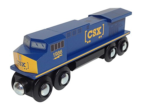 CSX Diesel Locomotive magnetic wooden train