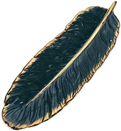 VOSAREA Bandeja de cerámica con forma de