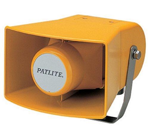 Horn Series Speaker (Patlite EWH-24A-Y Audible Alarm Speaker Horn, 32 Pre-Recorded Sounds, EWH Series, 12-24V AC/DC)