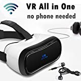 VR All in One Headset w/WiFi HDMI 360° 3D Viewer