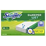 Swiffer Sweeper Wet Mopping Pad Refills for Floor Mop with Febreze Lavender Vanilla & Comfort Scent 36 Count - Pack of 6