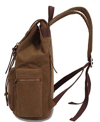 Greeniris mujer lona mochila viajar vendimia colegio mochila para niña Caqui