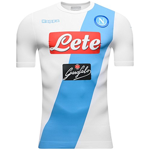 Kappa 2016-2017 Napoli Authentic Away Football Soccer T-Shirt Camiseta   Amazon.es  Deportes y aire libre 7d78fd5b4e0cb