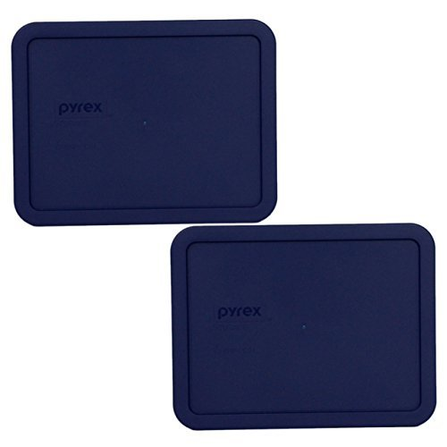 (PYREX Blue 6-cup RECTANGULAR Plastic Cover 7211-PC (2 Pack))