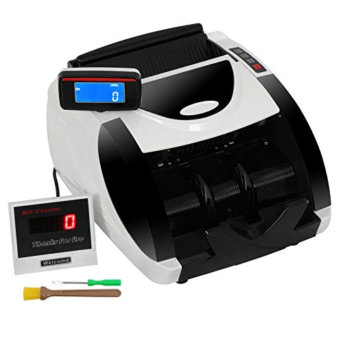 - ZENY Currency Cash Bill Money Counter Automatic Money Cash Counting Machine UV Detection & MG Counterfeit Bill Detection