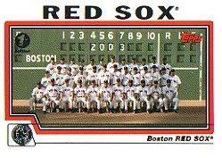 Boston Red Sox Baseball Topps Cards - 2004 Topps Baseball Cards Complete Team Set of 25 Boston Red Sox (championship year)