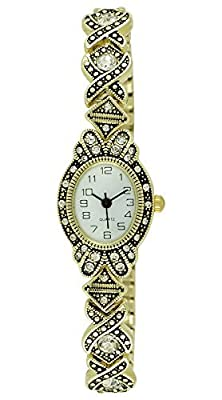 Moulin Women's Art Deco Expansion Band Gold Watch #17617.69446