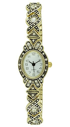 Moulin Women's Art Deco Expansion Band Gold Watch #17617.69446 ()