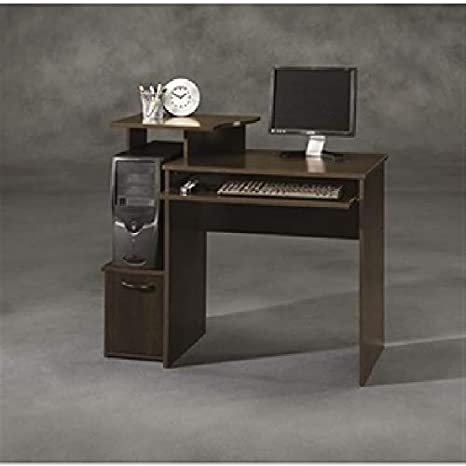 the best attitude b913e fcdee Amazon.com: 40-inch Wide Dark Wood Computer Desk Desk ...