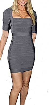 Celebritystyle gray bodycon bandage dress (XXS)