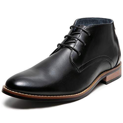 Mens Dress Boots Oxford Lace up (12 M US, Black-5)