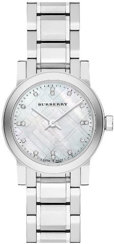 Burberry Mother of Pear diamond set Stainless Steel Ladies Watch BU9224