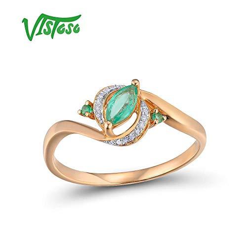 gs for Women Genuine 14K 585 Rose Gold Ring ()