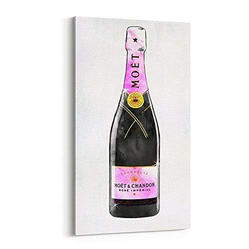 - Wall Glam Fashion Art Canvas Champagne Bottle