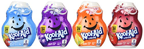 Kool-aid Liquid Drink Mix 4 Pack (Cherry, Grape, Orange, and Tropical Punch) (Flavor Aid)