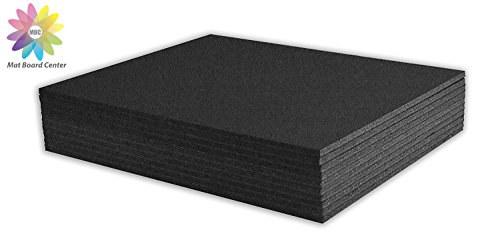 Mat Board Center, Pack of 10 11x14 3/16' BLACK Foam Core Backing Boards