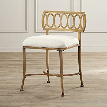 Enjoyable Amazon Com Bedroom Bathroom Vanity Stool Made W Metal Gmtry Best Dining Table And Chair Ideas Images Gmtryco