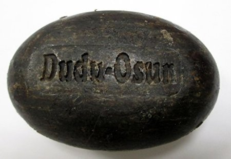 Dudu Osun Black Soap - Original African Organic Raw Herbal Natural Pure Exfoliating Face And Body Wash With Shea Butter, Vitamin E and Aloe - Good for Hair, Eczema, Acne, Psoriasis, Ringworm, Dry Scalp and Dandruff. 150g Per Bar. Pack of 3