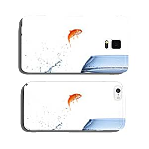 goldfish jumping out of the water - improvement concept cell phone cover case Samsung S6