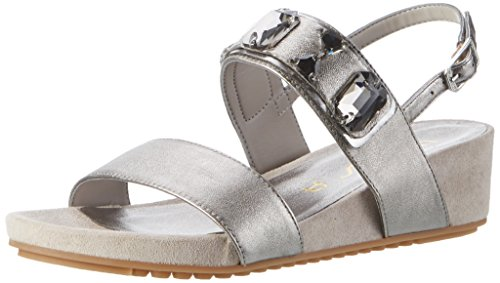 Wedge Women's Grey Sandals Heels LMT Steel Unisa Besar pH1P17