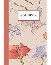 Notebook: Cute Iris Flower Hand Drawn Purple