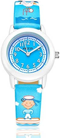 KEZZI Outdoors Watch with Blue leatherv Strap Children Kids Watches Outdoor Sports Boy Girl