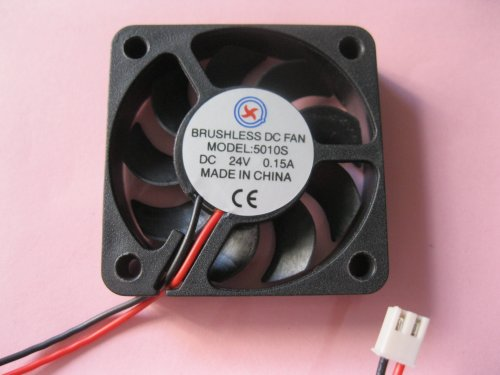 2 pcs Brushless DC Cooling Fan 24V 5010S 7 Blades 2 wire 50x50x10mm Sleeve-bearing Skywalking