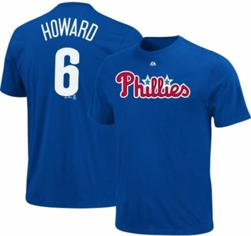 Majestic Ryan Howard #6 Philadelphia Phillies Player Tee Shirt Big Sizes (2X) ()
