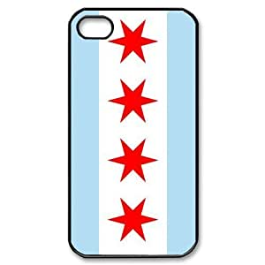 TYH - Run horse store - Just for You, Chicago Flag picture for black plastic iphone 4/4s case ending phone case