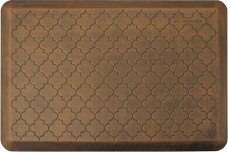 WellnessMat Antique Collection Motif Light Brown Trellis Mat, 36 x 24 Inch