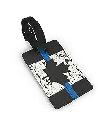 Canada Thin Blue Line Flag Luggage Tag Duffle Bag Tags Label