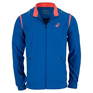 Asics Men's Resolution Jacket, Speed Blue, Large