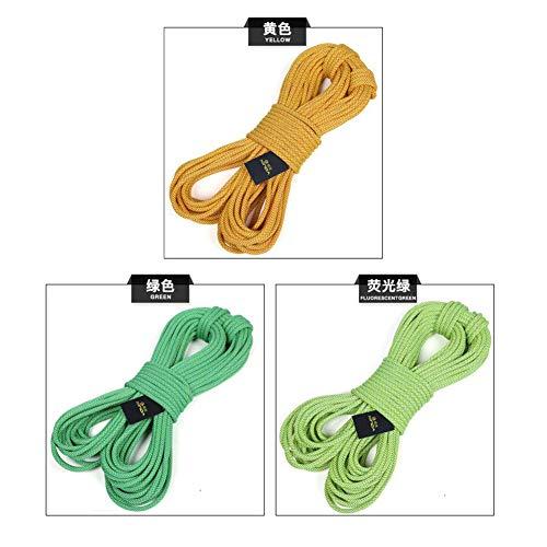 不承認精神インストラクターアウトドアロッククライミング安全ロープ、直径16ミリメートル、45KNプル高強度脱出高抵抗ロープ火災救助、航空作業、ハイキング (色 : 黄, サイズ : 16 mm*100 m)