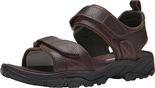 Rockport Men's Rocklake Flat Sandal, Brown/Brown, 8 W US ()