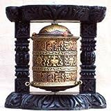Mani Wheel / Naga Land Tibet Sacred Stones Desk Prayer Wheel Create Merit During Conference Calls
