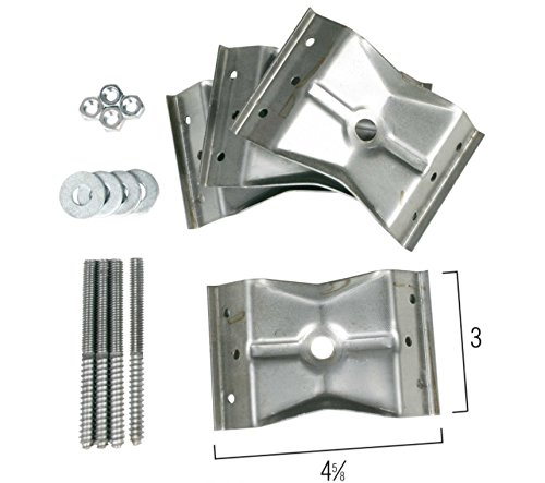 Metal Corner Bracket with Bolts and Nuts (Set of 4) Table Hardware 3